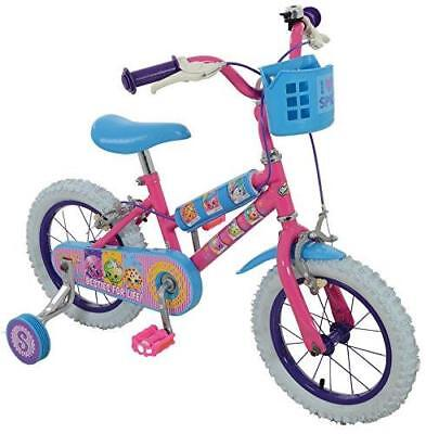 """Girl Collectable Bike, Pink, Size 14"""" by Shopkins with Adjustable Handle Bar"""