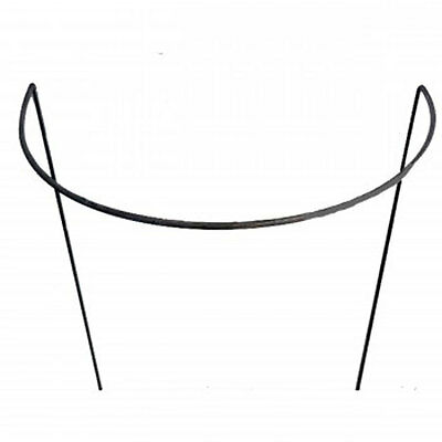 "5 x 18""(45cm) Wide Handmade Rusted Style Curved Metal Plant Supports"
