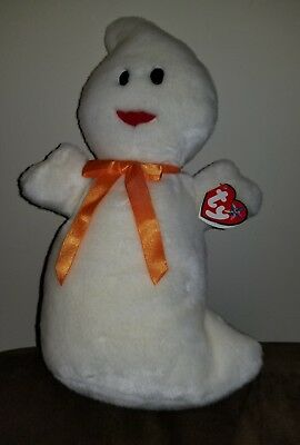 Ty Beanie Babies Large Plush Halloween Spooky Ghost 2001 Rare mint condition!