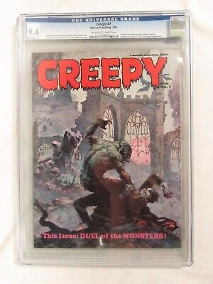 Creepy #7 (1966) Frank Frazetta Cover CGC 9.4 Warren Publishing Magazine CJ67