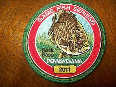 Pa Pennsylvania Fish Game Commission  Patch 2011 Rock Bass  Game Fish Series