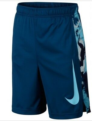Nike Boys Dry training shorts, industrial blue, size M