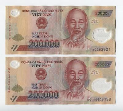 5 MILLION VIETNAM DONG CIRCULATED POLYMER CURRENCY 25 x  200,000 200,000 VND