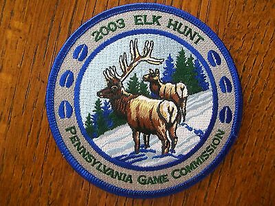 """Pa Pennsylvania Game Fish  Commission  Patch 2003 4"""" Pa  Elk Hunt Series"""