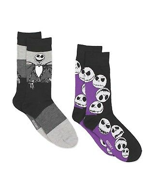The Nightmare Before Christmas Mens 2 pack Crew Socks NB045MCCZA