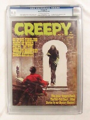 Creepy #3 (1965) Frank Frazetta Cover CGC 9.2 Warren Publishing Magazine CJ74