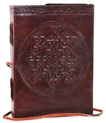 "Leather Blank Book Journal Large Celtic Knot Diary Notebook Sketchbook 5x7"" 240p"