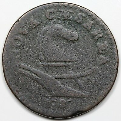 1787 New Jersey Copper, F detail