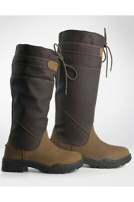 Brogini Derbyshire RIDING YARD COUNTRY BOOTS LEATHER MIX WATERPROOF