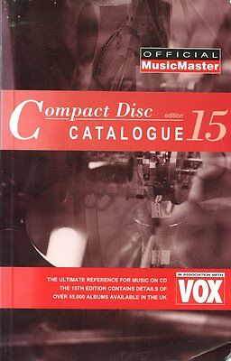 Book - Music Master Compact Disc Catalog Import 1995 Free U.s. Shipping