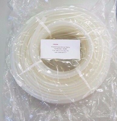 "Medical Grade Peroxide Cured Silicone Tubing 7/16"" OD x 1/4"" ID 50' Foot Roll"