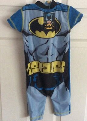Boys Blue Batman Swim Cover Up UV 50+ Age 18/24months New With Tags