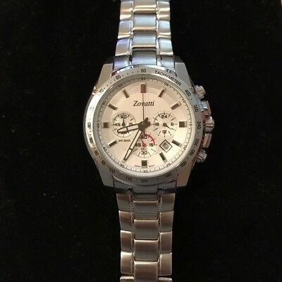 Zovatti Forza Men's Watch - Stainless Steel - Tachymeter - Brand New!!!