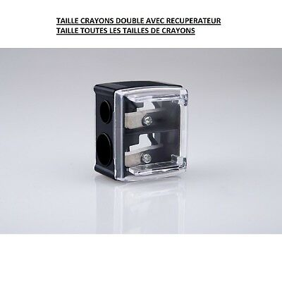 Taille Crayon Double Avec Recuperateur Maquillage Make Up Acc032