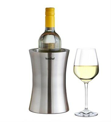 Wine Cooler Stainless Steel Chiller Bottle Party Dine Dinner NEW FREE POSTAGE