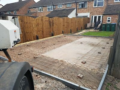Concrete Bases For Sectional Garages / Sheds