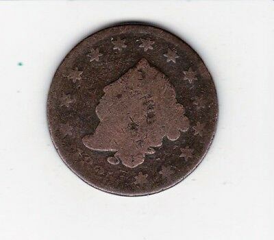 Scarce Date  1825 Large Usa Penny--Nice Color  Free Shipping