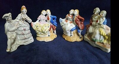 Antiques/Vintage Victorian-Colonial Figurines Occupied Japan Set of 4