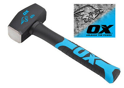 OX Tools Club Lump Hammer Hardened Steel Face & Fibreglass Handle 4lb T081304
