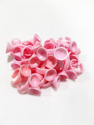 Pink Disposable Glue Rings w/ Small Wells for Eyelash Extensions