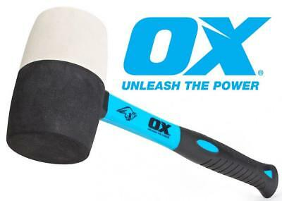 OX Trade Combination Rubber Mallet 24oz Strong Fibreglass Handle NON MARKING
