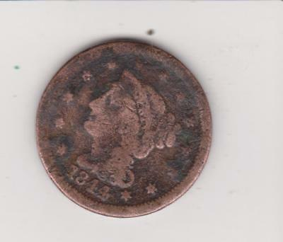 1844 Large Usa Penny-- Nice Detail Free Shipping