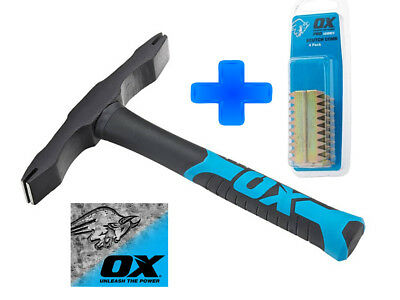 OX 28oz Double End Scutch Hammer Bricklayers Stone Masons Brick Tools T085028