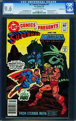DOUBLE COVER!!  DC Comics Presents #47 CGC 9.6 1st He-Man & Skeletor OW/W pages