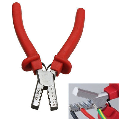 Mini Ferrules Tool Crimper plier For Crimping Cable End-Sleeve 0.25-2.5mm² SUNNY