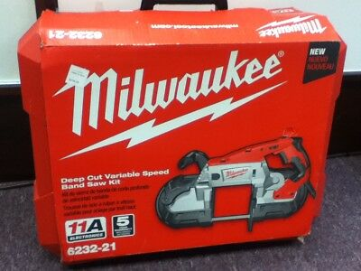 Brand New,Milwaukee 6232-21 Deep Cut Variable Speed Band Saw Kit.