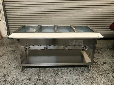 4 Well Steam Table Natural Gas Aerohot E304M #7440 Commercial Restaurant NSF
