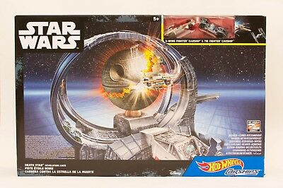 Hot Wheels Star Wars Carship Death Star Revolution Race Spielset Mattel NEU OVP