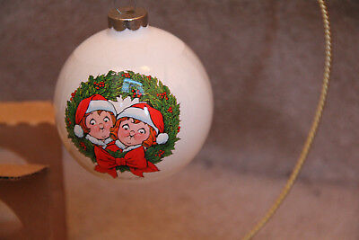 1981 Campbell's Soup Collectible Ltd. Edition Glass Ball Christmas Ornament. #1B