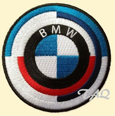 BMW logo racing 70's Rondel embroidered iron on patch badge motor sports # M01