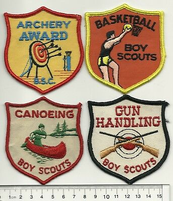 Four Old Boy Scouts of Canada Activity Crests