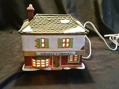 Dept 56 Dickens Village Series, Scrooge and Marley Counting House 65005 Retired