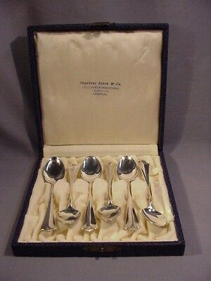 David Andersen Norway 830S Silver Oslo Designer set of 6 Demitasse Spoons