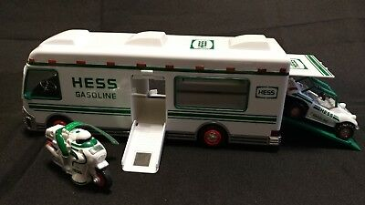 Hess 1998 Truck Recreation Van with Dune Buggy and Motorcycle