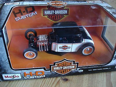 Harley Davidson 1929 Ford Modell A official licensed FORD Product  M1:24  NEU