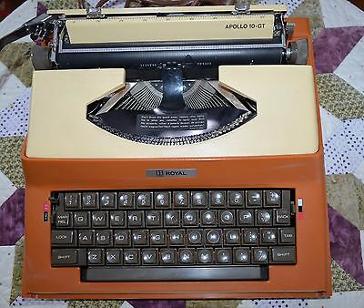 ROYAL Electric Typewriter APOLLO 10 GT WORD PROCESSOR w/case 1969