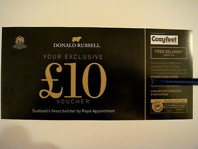 Donald Russell, Scottish Butcher - New Customer Voucher for £10 Off £40 Order