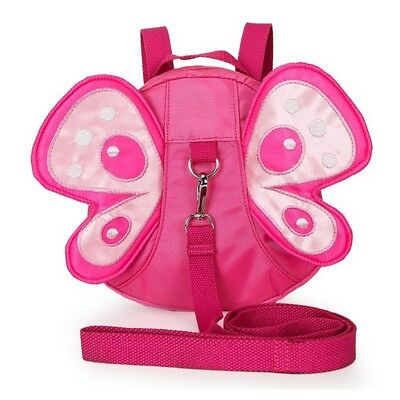 Baby Kid Walking Safety Anti-Lost Belt Backpack Harness Leash Toddler Butterfly