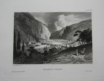 1840 - Harpers Ferry West Virginia Nord Amerika engraving Stahlstich