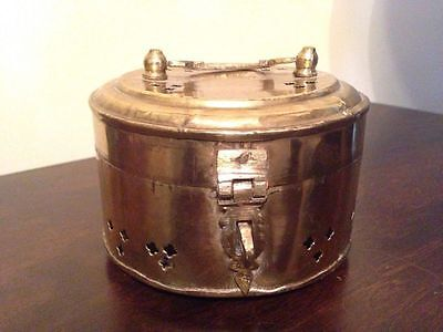 Collectible Unique Vintage Solid Brass Treasure Chest Jewelry Trinket Box {#3}