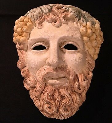 Ergani Athens Hand Made Ancient Greek Athenian Theatrical Drama Mask of Dionysus