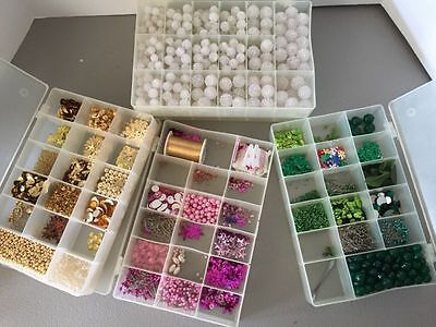 Large Lot Of Assorted Craft Beads And Other Crafting Materials (1/2)