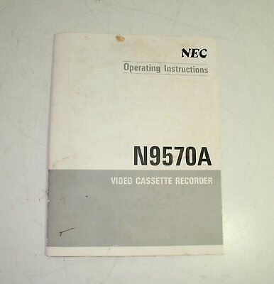 NEC N9570A Video Cassette Recorder VCR Instructions User Manual