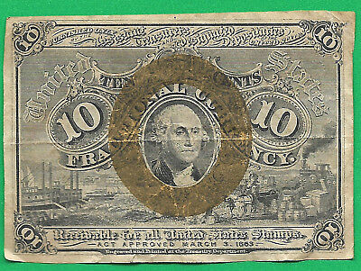 Fr 1245 Fractional Currency 2nd Issue 10Cents
