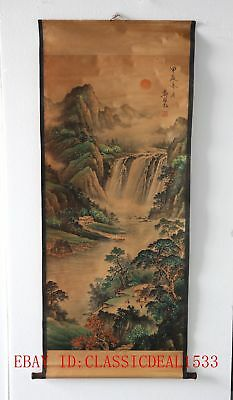 Old Collection Scroll Chinese Painting /Landscape Painting ZH1016