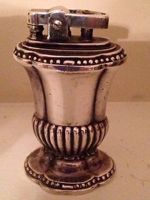 Vintage Antique Ronson Mayfair Silverplate Table Lighter 1950s